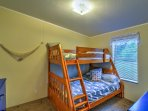 Kids will love the twin-over-full bunk beds in the 'Second Mate' guest bedroom.