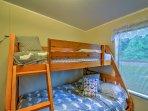 Climb into the bunks for a good night's sleep!