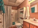 The home's bathroom is stocked with linens for your use!