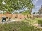The spacious backyard welcomes a barbecue with friends!
