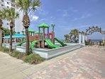 Kids will love playing at the beachfront Tom Renick Park.