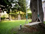 Garden with swing.