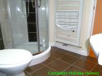 Main shower room off the entrance hall