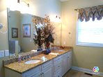Large Master Bath - double vanity, walk-in shower and separate tub