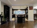Enjoy bright and open kitchen & living area