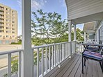 Enjoy views of the ocean from your private balcony!