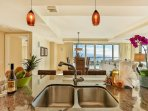Kitchen Island with ocean view