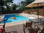 Catch a tan on the pool patio or on a float while enjoying a cocktail