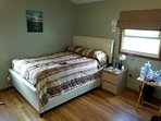 1 upstairs bedroom features double bed and 60' LG Smart TV with cable, Pandora, Youtube and Internet
