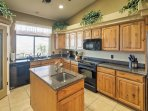 Whip up tasty, home-cooked meals in the fully equipped kitchen.