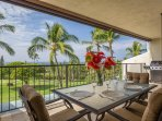 Lanai with Dining with Ocean Views