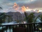 Veranda Sunset Scene