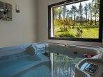 APPARTEMENT & SPA avec piscine et terrasse privée vue sur le parc