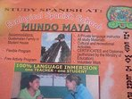 Mundo Maya Spanish School full Spanish immersion