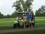 Vic and I golfing at Winding Creek.  There are many great golf courses nearby if you love to golf!