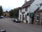 The Highlander Inn Whisky bar (just 2 doors down) and beyond, the Craigellachie Hotel. Very handy!