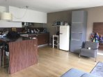 Living room - kitchen area