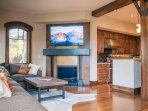 Gas Fireplace with 65 Inch Samsung Smart TV