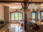 Picturesque Views from the Dining Area and Kitchen