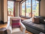 Living Area with views of the San Juan Mountain Range