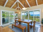 Dining Area and Covered Lanai with Ocean Views - Upper Level