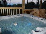 Seven person hot tub
