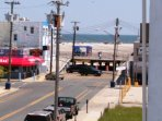 Only a half-block to the center of the famous Wildwood Boardwalk, free beach and ocean.