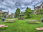 Pack a lunch and enjoy a nice picnic at these community tables.