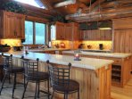Open kitchen with convenient counter seating