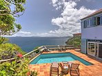 Spend warm afternoons catching rays by the private pool that looks out upon the sea at this 3-bedroom, 3.5-bathroom...