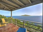 The cliffside villa has incredible views from each of the balconies.