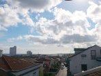 Extended view of Ponta Delgada bay from the balcony