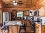 Modern, chef designed kitchen with 100 plus year old wormy chestnut.
