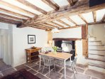 Dining room with oak beams