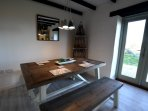 Dining area with access out to the garden