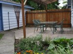 Covered patio.  Perfect for hanging out with family &friends.
