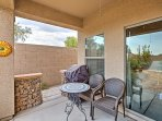 Grab some fresh air and sip on a refreshing afternoon drink on this home's private patio!