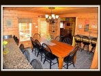 dining room - front enterance - door to back deck - main level