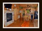 living room & kitchen / main level