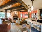 Living room/kitchen, open floor plan
