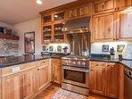 You'll find only the best in kitchen appliances here, including a wine fridge.