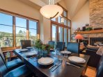 Take in the alpine views from your dining room, adjacent to the living room and kitchen.