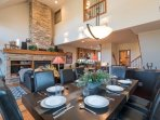 The vaulted ceilings on the main living level add a ton of space.