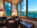 Take a peek at the treetops from the master bedroom's sitting area.