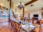Giant Dining Room seating for 10