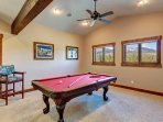 Have fun in the Pool table room!
