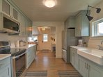 With stainless steel appliances and all of the necessary cookware, the fully equipped kitchen is sure to please the...