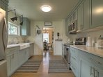 Prepare delectable meals in the spacious kitchen.