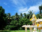 Spirit house of Mango residence , the culture and religion are so important in thailand ,