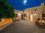 Courtyard under the moonlight ..!